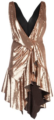 Philosophy di Lorenzo Serafini Sequinned Asymmetric Dress