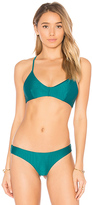 RVCA Cross Back Bikini Top in Green