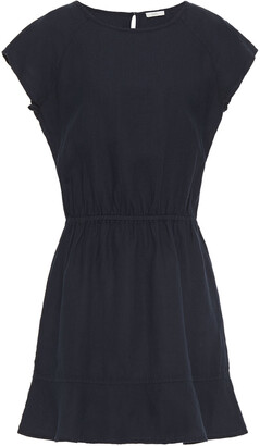Joie Fluted Linen Mini Dress