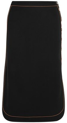 Vanessa Seward Wrap-effect Wool-blend Crepe Midi Skirt