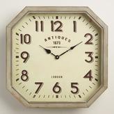 Hexagonal Metal Allston Wall Clock