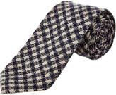 Cole Haan Navy Parker Gingham Silk-Blend Tie