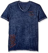 Buffalo David Bitton Men's Tafate Short Sleeve Vneck Fashion Tee Shirt