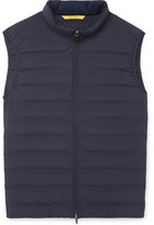 Canali Quilted Shell Down Gilet - Navy