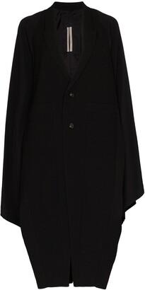 Rick Owens Oversized Batwing Clasp Back Coat