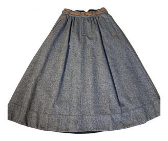 Comptoir des Cotonniers Grey Wool Skirts