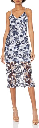 J.o.a. Women's Layered Flower Lace Long Dress