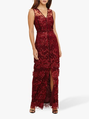 Phase Eight Jolene Lace Dress, Ruby Red