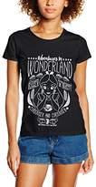 Disney Women's Alice Adventures in Wonderland T-Shirt,(Manufacturer Size:Large)