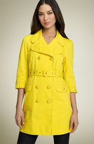 Ruffle Sleeve Belted Trench Coat