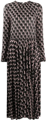 Valentino All-Over Logo-Print Dress