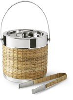 Williams-Sonoma Williams Sonoma AERIN Woven & Silver Ice Bucket with Tongs