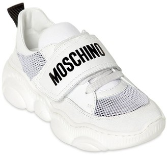 Moschino Mesh & Leather Sneakers
