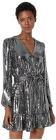 MICHAEL Michael Kors Mirror Dot Crossover Dress (Black/Silver) Women's Dress