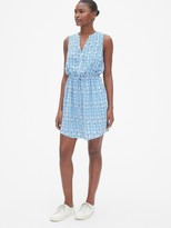 Gap Perfect Sleeveless Tie-Waist Shirtdress