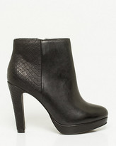 Le Château Leather Platform Ankle Boot