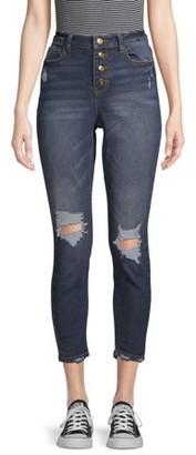 No Boundaries Juniors' Authentic Destructed Skinny Jeans