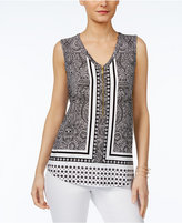 INC International Concepts Printed Tank Top, Only at Macy's