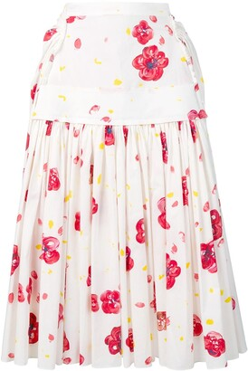 Marni Poppy Print Skirt