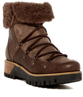 Manas Design Genuine Sheepskin Trimmed Short Platform Boot