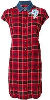 Diesel checked shirt dress - women - viscose/Cotton - XS