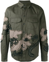 Valentino embroidered shirt jacket