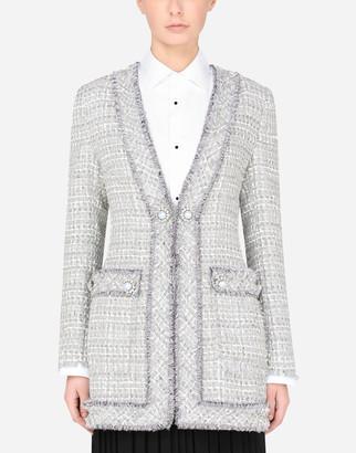 Dolce & Gabbana Long Tweed Jacket