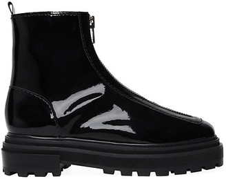 Schutz Maryele Patent Leather Combat Boots