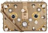 Dolce & Gabbana Embellished Python Box Bag, White
