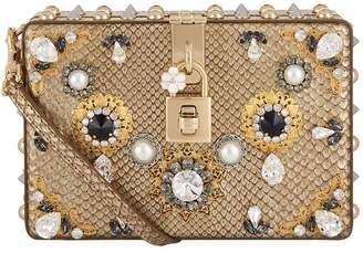Dolce & Gabbana Embellished Python Box Bag