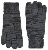 Topman Mens Grey Gray Plaited Gloves