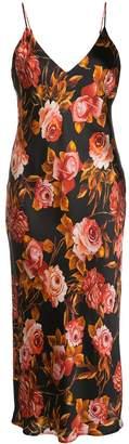 L'Agence floral-print silk midi dress