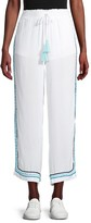 Thumbnail for your product : Surf.Gypsy Zigzag Trim Slit Wide-Leg Pants