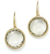 Roberto Coin 18K Yellow Gold Ipanema Round Earrings with Green Amethyst