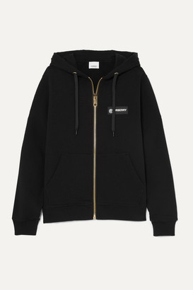 Burberry Paneled Checked Cotton-canvas And Loopback Cotton-jersey Hoodie - Black