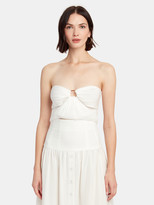 Bec & Bridge Puka Shell Strapless Crop Top