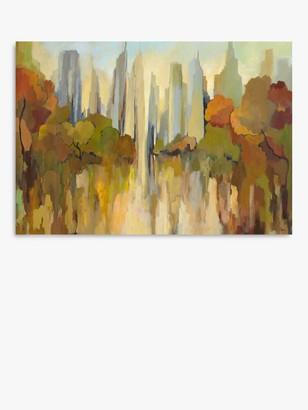 John Lewis & Partners Gregory Lang - City Park Canvas Print, 70 x 100cm, Brown/Multi
