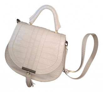 DeMellier White Leather Handbags