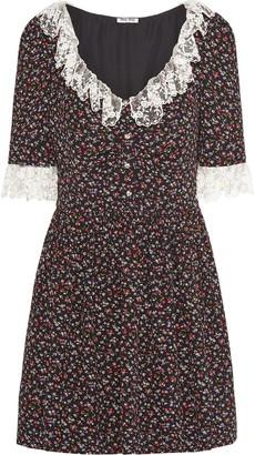 Miu Miu Marocain wildflower dress