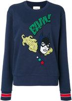 Iceberg Batgirl embroidered sweatshirt - women - Cotton/Polyamide/Polyester - 38