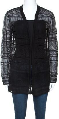 M Missoni Black Knitted Long Sleeve Cardigan M