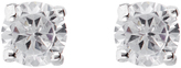 Accessorize Platinum Bling Solitaire Stud Earrings