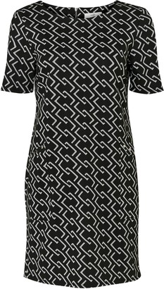 Wallis PETITE Black Chain Print Shift Dress