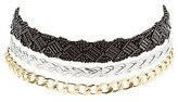 Charlotte Russe Mixed Chain Choker Necklaces - 3 Pack