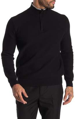 Perry Ellis Long Sleeve Quarter Zip Pullover Sweater