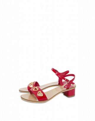 Love Moschino Sandals Metal Heart