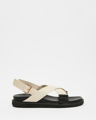 Billini - Women's Black Flat Sandals - Zendaya - Size 5 at The Iconic