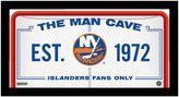 "Steiner Sports New York Islanders Framed 10"" x 20"" Man Cave Sign"