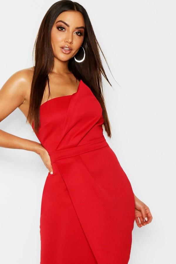 450461cf1c66 boohoo Red Wrap Dresses - ShopStyle Australia
