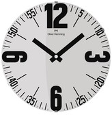 "Oliver Hemming Wall Clock with Bold Number and Minute Reader Dial (141⁄2"")"